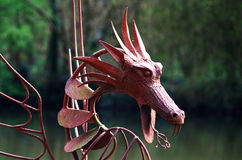 Red Dragon Sculpture Stock Photo