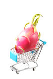 Red dragon in shopping cart Stock Photography