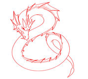 Red dragon tattoo Royalty Free Stock Photos