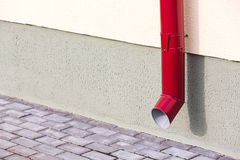 Red drainpipe Royalty Free Stock Photo