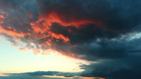 Red dramatic sky - time lapse stock footage