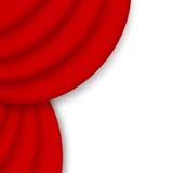Red drape curtain. Corner illustration over white background royalty free illustration