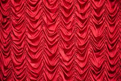 Red draped curtains royalty free stock image