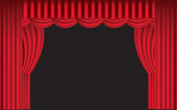 Red draped stage curtain Royalty Free Stock Photos