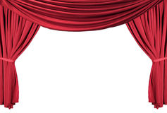 Red Draped Theater Curtains Series 1 Royalty Free Stock Image
