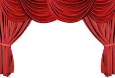 Red Draped Theater Curtains Series 3 stock photos