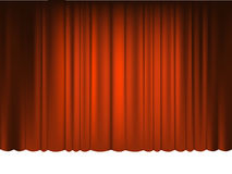 Red Draped Theater. Vector Stock Images