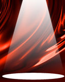 Red drapery. With bright spotlight Stock Photography