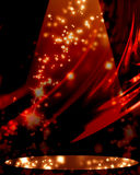 Red drapery. With spotlight and sparkles Stock Photo
