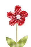 Red drapery flower Stock Images