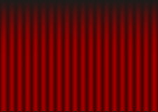 Red drapery. Illustration of red velvet drapery (theatre background Stock Images