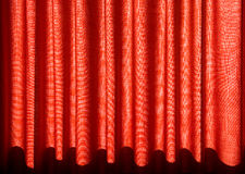 Red drapes. Red colourful drapes for background Stock Image