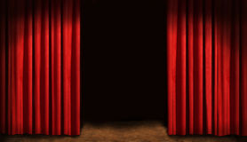 Red drapes. And dark background Royalty Free Stock Images