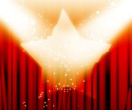 Red drapes Royalty Free Stock Image