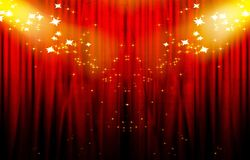 Red drapes Royalty Free Stock Photo