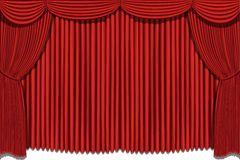 Red drapes Stock Images