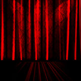 Red Drapes On Stage  Stock Photography