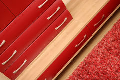 Red drawer Royalty Free Stock Images