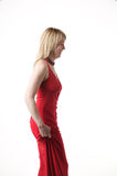Red Dress. An attractive woman in a red dress Royalty Free Stock Photos