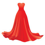 Red dress Stock Image
