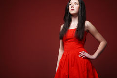 Red dress. Royalty Free Stock Photos