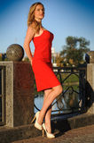 Red dress Royalty Free Stock Images