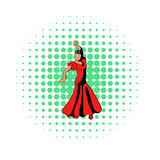 Red dress icon, comics style Royalty Free Stock Photo