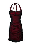 Red dress isolated on white Royalty Free Stock Photo