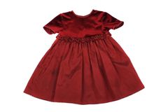 Red dress for little princess Royalty Free Stock Images