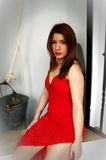 In a red dress 11 Royalty Free Stock Photo