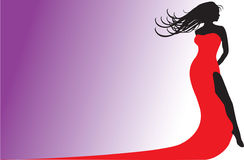 Red Dress Silhouette Stock Image