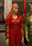 Red Dress for the traditional Turkish Henna evening stock images