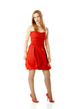 Red dress Woman Stock Image