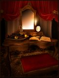 Red dressing room Royalty Free Stock Images
