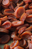 Red dried apricots Royalty Free Stock Photography