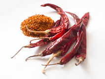 Red dried chilli. Food integrant for spicy cooking Royalty Free Stock Photography