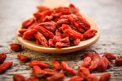 Red dried goji berries Stock Photo
