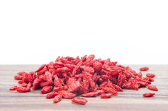 Red dried goji berries Stock Photography
