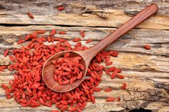 Red dried goji berries Stock Photos