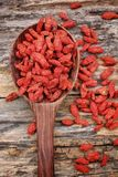 Red dried goji berries Royalty Free Stock Photography