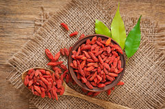Red dried goji berries royalty free stock images