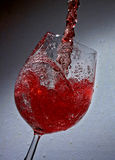 Red drink. A glas of red wine Royalty Free Stock Photo