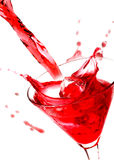 Red drink stock image