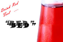 Red drink in the bootle Royalty Free Stock Photos