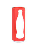 Red drink can Stock Photography