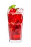 Red Drink Isolated On White Background Stock Photography