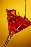 Red drink party begins Royalty Free Stock Images