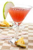 Red drink with pineapple Royalty Free Stock Photos