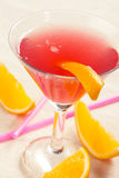 Red drink with tequila Royalty Free Stock Photo