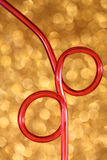 Red Drinking Straw Stock Photo